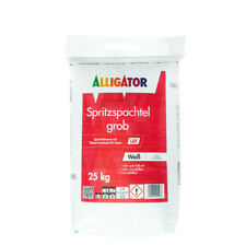 (1,44€/ Kg)Alligator Spritzspachtel grob LEF 25kg weiß, ***polysack***