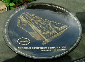 VINTAGE Sunbeam Equipment Corporation SECO Meadville PA Glass Advertising Plate