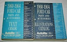 1960-1964 Ford Car Parts & Accessories Catalogs Two Books Text & Illustrations