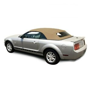 Ford Mustang 05-14 Convertible Soft Top & Glass window Camel Tan Sailcloth