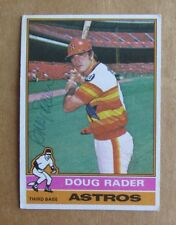 1976 TOPPS BASEBALL DOUG RADER #44 AUTOGRAPHED SIGNED CARD HOUSTON ASTROS