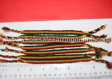 12 friendship bracelets Rastafarian color 704E