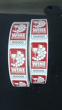 Premium Wine Roll Tickets - 2 rolls of 500 tickets - Total of 1,000 Tickets