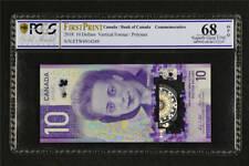 2018 Bank of Canada 10 Dollars Viola Desmond Banknote PCGS 68 OPQ Superb Gem UNC