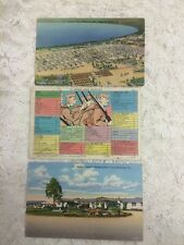 Lot of 3 Vintage 1 Cartoon 2 Postcards Camp Blanding, Fla 1940's Unused WW2