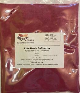 Rote Beete Saftpulver 200gr. natürliche Lebensmittelfarbe rot Pulver Farbe