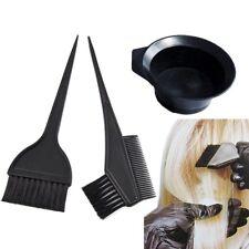 3/pk Hair Coloring Dyeing Kit Color Dye Brush Comb Mixing Bowl Tint Tool Bleach