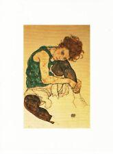 Postcard Egon Schiele Seated Woman w/ Bent Knee 1917 Narodni Galarie Prague MNT