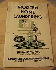 "VTG 1931 THOR Washing Machine Advertising Booklet~""MODERN HOME LAUNDERING""~"