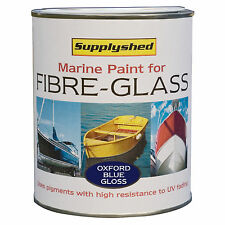 Supplyshed Marine Boat Gloss OXFORD BLUE Paint for Fibreglass and GRP 750ml