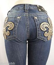 Miss Me Jeans Rhinestones Style JP6226B Boot Cut size 28