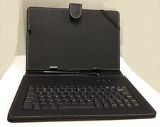 """10.1"""" Case with Micro USB Keyboard Stylus for Android Tablet PU Leather Black"""