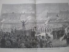 3 emperadores en Berlín Wilhelm I Francisco José I zar Alexander II celebración 1872