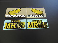 Honda MR175 Elsinore Gas Tank and Side Panel Decals AHRMA