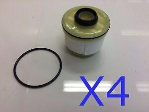 4x Filter fits R2619P DAIHATSU DELTA TOYOTA COMMUTER HILUX KUN16 KUN26 WCF31