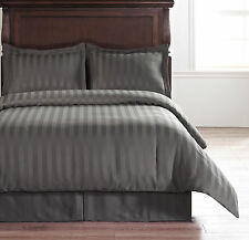 Charcoal Grey QUEEN Size Bed Hotel Collection 5pc Reversible Duvet Complete Set