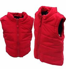 Kids Gilet boys girl infant Winter body warmer jacket top lot 1-5 years red new