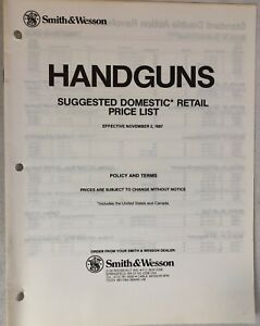 Smith Wesson Handguns Suggested Domestic Retail Price List Revolver Pistol 997