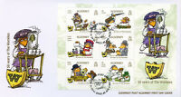Alderney 2018 FDC The Wombles 50 Years 6v M/S Cover Cartoons Literature Stamps