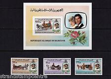 Mauritania - 1981 Royal Wedding (Charles & Diana) - UM - SG 701-3 + MS704 IMPERF