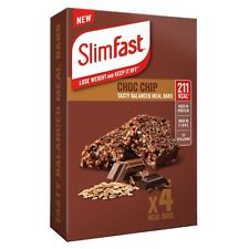 Slim Fast Meal Bars - Choc Chip 4 x 60g Meal Replacement Bars 211Kcal