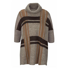 DICK WARM VINTAGE hochwertig PONCHO CAPE Pullover BRAUN camel Gr.52 54