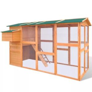 3m Poultry Chicken Hen Chooks Chicks Wooden Coop Nesting Egg Box Cage Enclosure