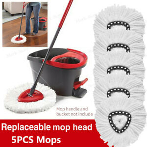 5Pcs Mops for Vileda Wring Mopping Replacement Clean Microfibre Mop Refill Head