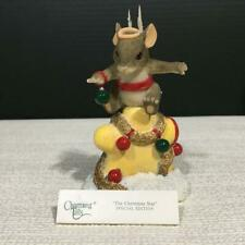 Charming Tails 98/279 The Christmas Star Resin Figurine, Naled Exclusive, Mib