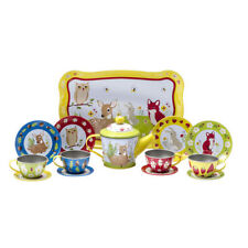 Forest Friends Tin Tea Set Toys Preschool Pretend Kitchen Play #Fftts