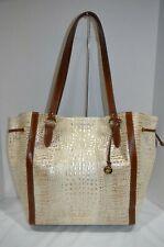 RARE NWT $425 BRAHMIN CHEYENNE TOTE BEIGE CARACARA shoulder bag