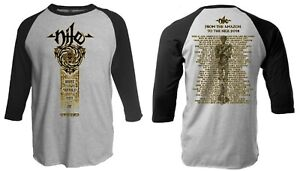 NILE cd lgo SCARAB GOLD OUTLINE Official RAGLAN SHIRT LRG New not be unearthed
