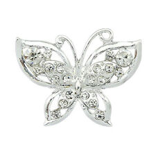 warning ! panic buying  Silver Crystal Butterfly Pin Brooch even cheap than that