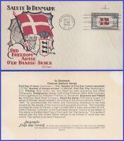 USA3 # 920 U/A FACSIMILE FDC   Flag of Denmark