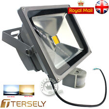 10/20/30/50W PIR Sensor LED SMD Floodlight Garden Light Cool / Warm White RGB