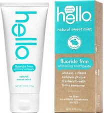 Hello Fluoride Free Whitening Toothpaste, Natural Sweet Mint 4.2 oz