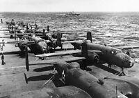 "B-25B Bombers USS Hornet Doolittle Raid 5""x 7"" World War II Photo WW2 WWII 825"