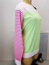 NWT $50 Slazenger Women's Cloud Striped Long Sleeve Multi-Colored Golf Shirt