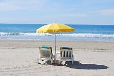 BEACH CHAIRS YELLOW UMBRELLA OCEAN WAVES MOUSE PAD  9 X 7 inches