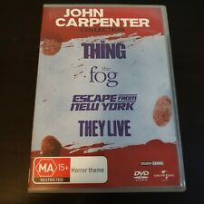 John Carpenter Collection DVD Thing Fog They Live Escape From New York Region 4