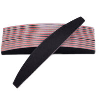 10Pcs 100/180 Double Sided Grit Half moon Nail Files File Manicure Emery Board
