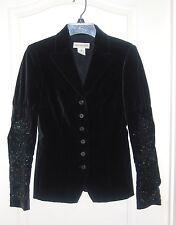 DRIES VAN NOTEN black velvet fitted Victorian GOTHIC beaded Blazer Jacket 38 4 6