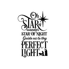 Star of Wonder Christmas Carol Unmounted Rubber Stamp - Religious #26