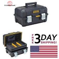 STANLEY 2 Tray Cantilever Tool Box FATMAX 18 in. Water Proof Storage Organizer