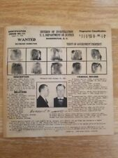 Wanted Poster Raymond Hamilton DOJ  Bonnie And Clyde