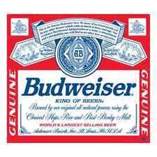 "Budweiser Vinyl Sticker Decal Logo 4 Stickers 4"""