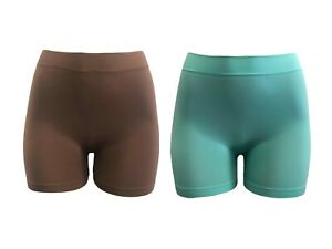 """2/6 pack Women seamless 12"""" Stretch Short Leggings Safety Boy Shorts Boxer Brief"""