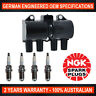 4x Genuine NGK Spark Plugs & 1x Ignition Coil for Holden Captiva CG