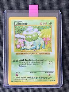 🤙 Shadowless Bulbasaur 44/102 - Pokémon Base Set NM-