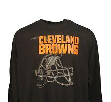 Cleveland Browns NFL Majestic Black Reflective Logo Long Sleeve T-Shirt  Mens nwt 5dedf9691